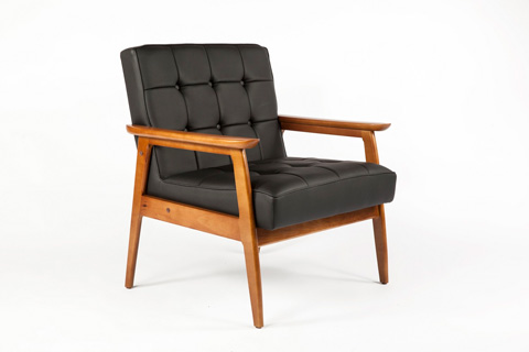 Image of Adrian Arm Chair Black