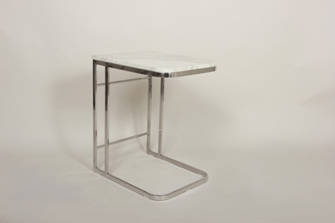 Control Brand - Carrara Marble Side Table - FHT40MBL