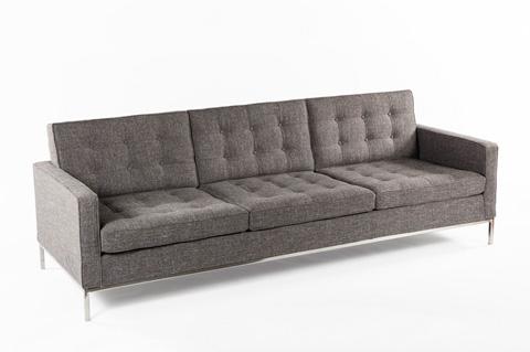Control Brand - The Dexter Three Seater Sofa - FEC5227TWBLK3