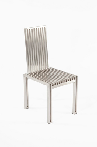Image of The Brushed Stainless Steel Dining Chair