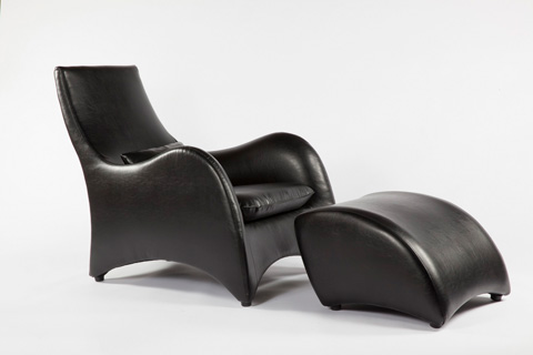 Control Brand - The Tampere Lounge Chair and Ottoman - FQC005BLKSET
