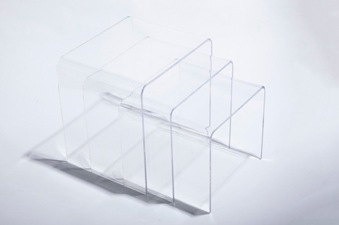 Control Brand - The Wonder Three Piece Nesting Table Set - FXT101CLEAR