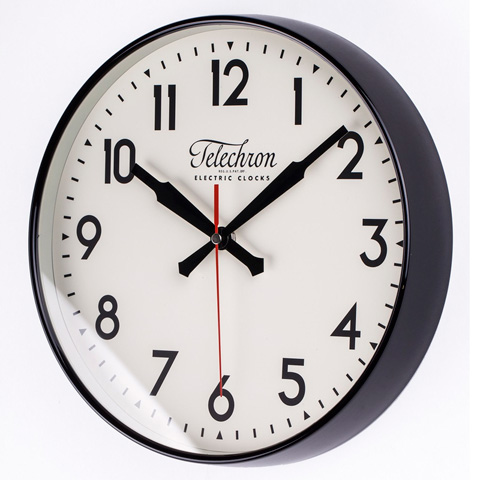 Image of The Corby Wall Clock in Black