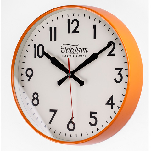 Control Brand - The Corby Wall Clock in Orange - G131512ORG