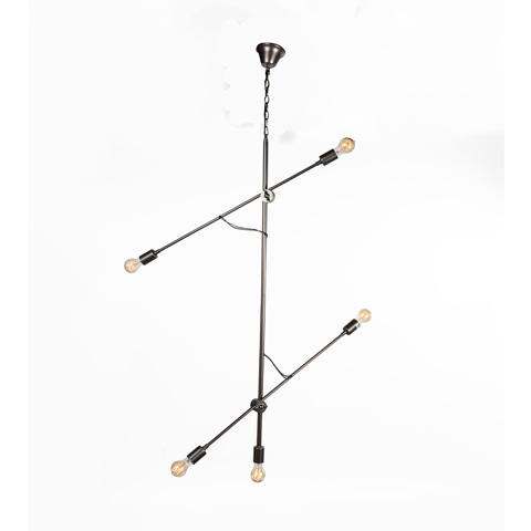 Control Brand - The Rjukan Chandelier - LU20255BLK