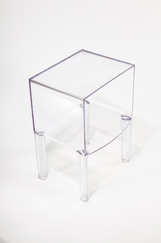 Control Brand - The Ghost Side Nightstand - ST695CLEAR