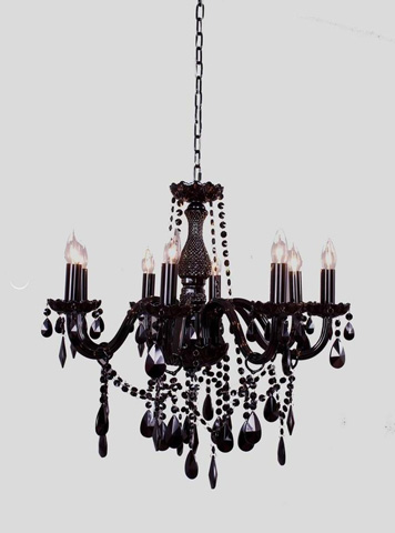 Image of Black Gothic Chandelier