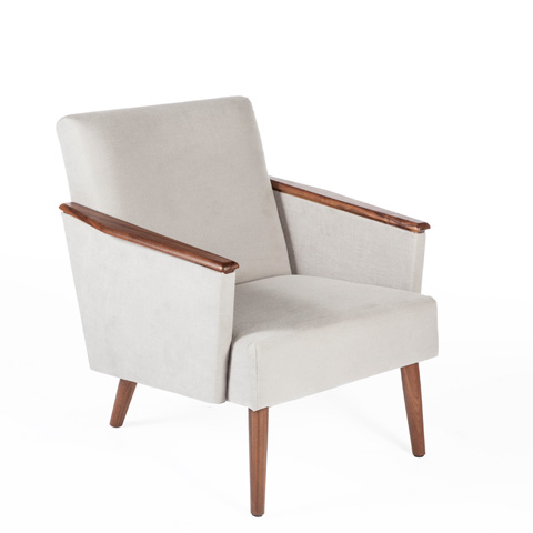 Control Brand - The Borghild Lounge Chair - FEC0739LGREY1