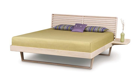 Copeland Furniture - Contour Bed with Right Shelf - Ash - 1-CTR-22