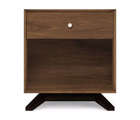 Copeland Furniture - Astrid 1 Drawer Nightstand - Walnut - 2-AST-10-14