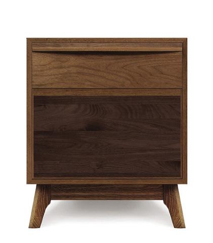 Copeland Furniture - Catalina 1 Drawer Nightstand - Walnut - 2-CAL-10-04