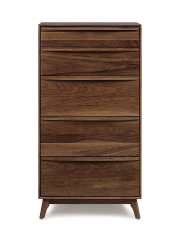 Copeland Furniture - Catalina 5 Drawer Chest - Walnut - 2-CAL-50-04
