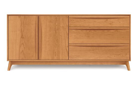 Copeland Furniture - Catalina 3 Drawer 2 Door Dresser - Cherry - 2-CAL-51-03