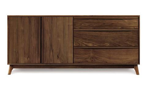 Copeland Furniture - Catalina 3 Drawer 2 Door Dresser - Walnut - 2-CAL-51-04