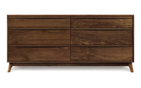 Copeland Furniture - Catalina 6 Drawer Dresser - Walnut - 2-CAL-60-04