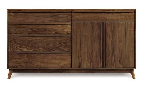 Copeland Furniture - Catalina 2 Door Dresser - Walnut - 2-CAL-72-04