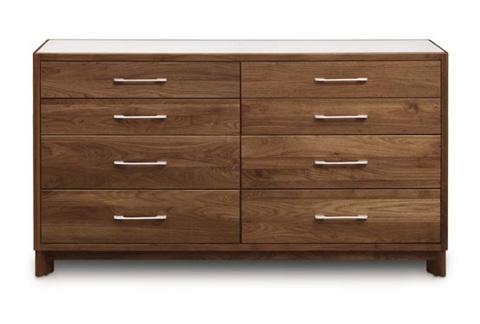 Copeland Furniture - Contour 8 Drawer Dresser - Walnut - 2-CTR-80-04