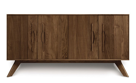 Copeland Furniture - Audrey 4 Door Buffet - Walnut - 6-AUD-40-04