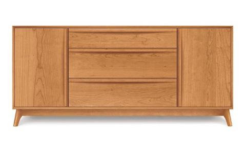 Copeland Furniture - Catalina 1 Door 3 Drawer Buffet - Cherry - 6-CAL-50