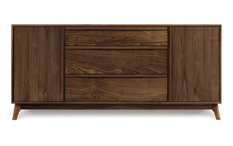 Copeland Furniture - Catalina 1 Door 3 Drawer Buffet - Walnut - 6-CAL-50-04