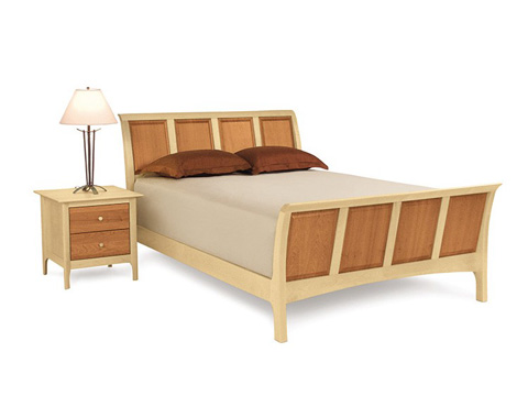 Copeland Furniture - Sarah Sleigh Bed with High Footboard - 1-SLM-12