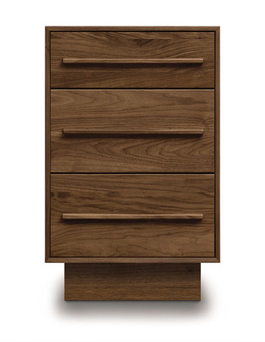 Copeland Furniture - Moduluxe Narrow Case with Three Drawers - 4-MOD-90