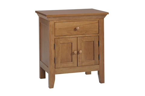 Country View Woodworking, Ltd - One Drawer, Two Door Nightstand - 300-502