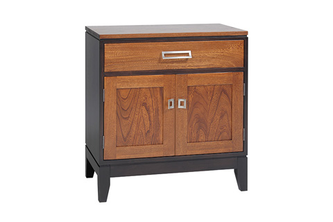 Image of One Drawer, Two Door Nightstand