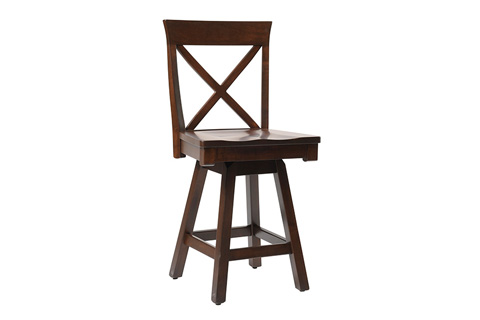 Country View Woodworking, Ltd - Side Swivel Pub Stool - DBS-06-24
