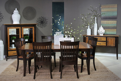 Country View Woodworking, Ltd - Dining Chair with Wood Seat - DCH-05