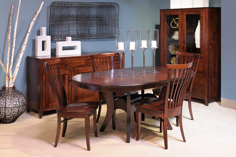 Country View Woodworking, Ltd - Dining Chair with Wooden Seat - DCH-33