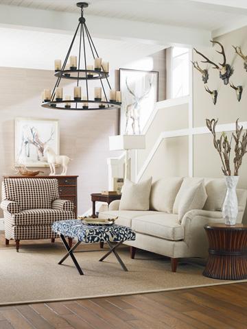 C.R. Laine Furniture - Dasha Large Ottoman w/Metal Base - 9677