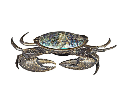 Image of Mud Crab with Blue Paua Inlay