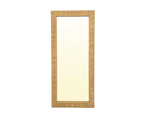 Image of Split Cane Floor Mirror