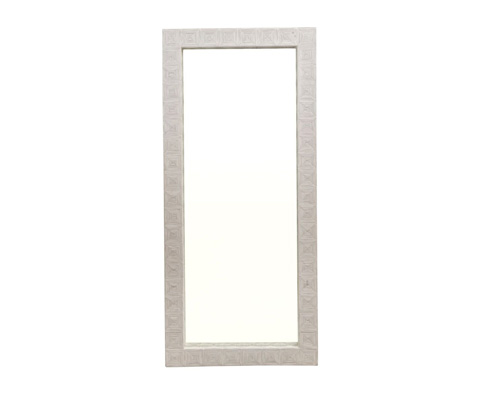 Image of Split Cane Floor Mirror
