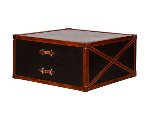 Image of Canvas Trunk Cocktail Table