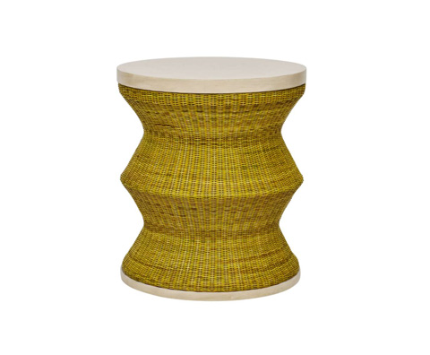Curate by Artistica Metal Design - Whimsy Drum Table in Green - C403-231