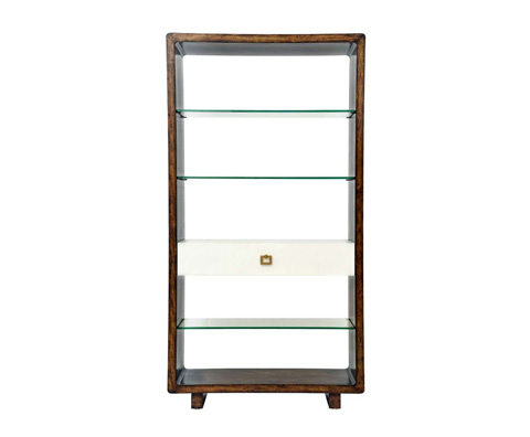 Curate by Artistica Metal Design - Ivory Canvas Open Bookcase - C408-940