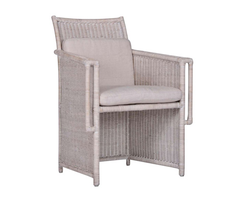 Image of Leeward Peninsula Wicker Arm Chair