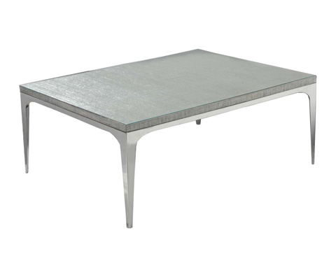 Image of Stainless Rectangular Cocktail Table