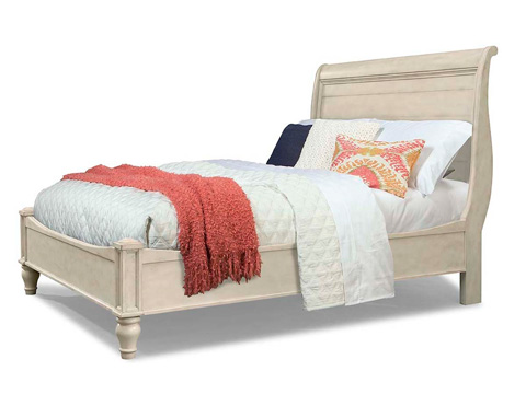 Image of Queen Cottage Sleigh Storage Bed