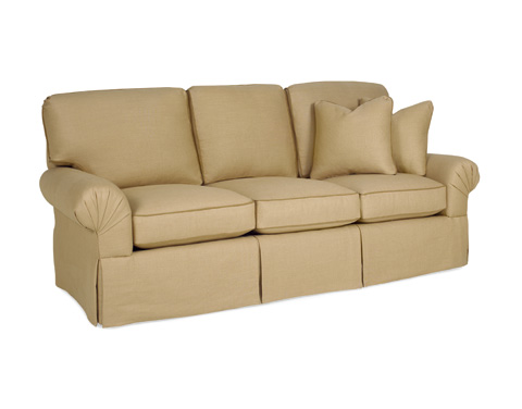 C.R. Laine Furniture - Custom Design Pleated Arm Sofa - CD8700P