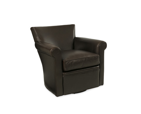 C.R. Laine Furniture - Philippe Leather Swivel Chair - L1265SW
