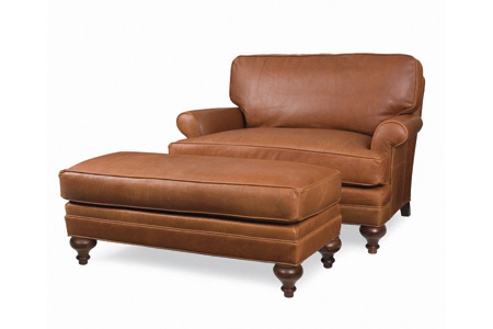 C.R. Laine Furniture - Kasey Leather Chair and a Half - L4506