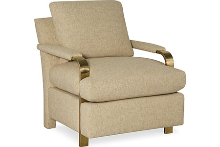 C.R. Laine Furniture - Elle Brass Arm Chair - 810-05