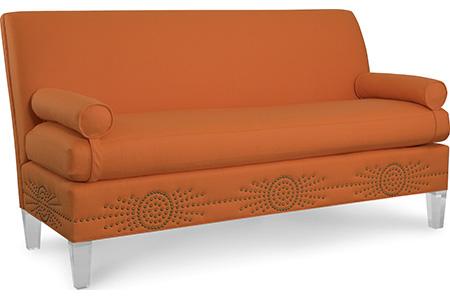C.R. Laine Furniture - Marguerite Sofa with Acrylic Legs - 8301-02BN