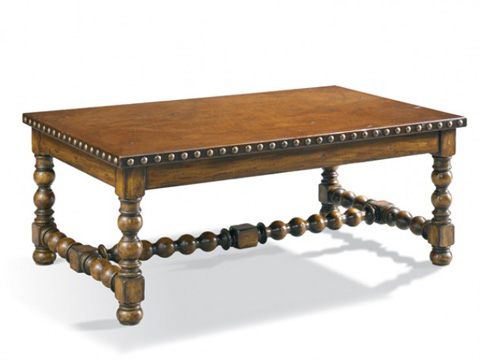CTH-Sherrill Occasional - Rectangular Leather Top Cocktail Table - 960-648