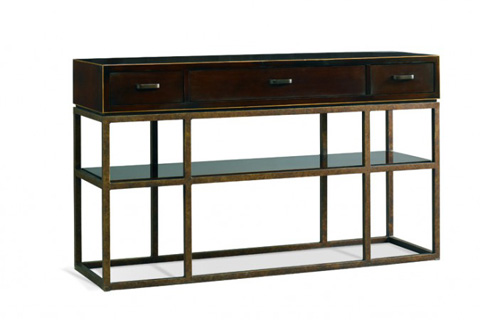 Image of Three Drawer Console Table