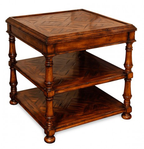 CTH-Sherrill Occasional - Three Tier Square Lamp Table - 960-612
