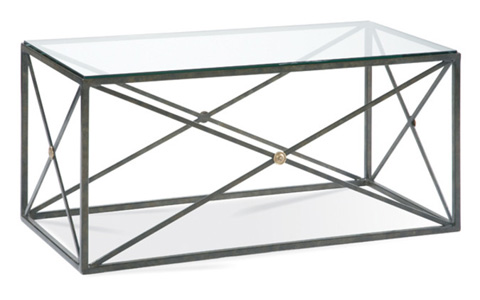 CTH-Sherrill Occasional - Bronze and Glass Cocktail Table - 978-842